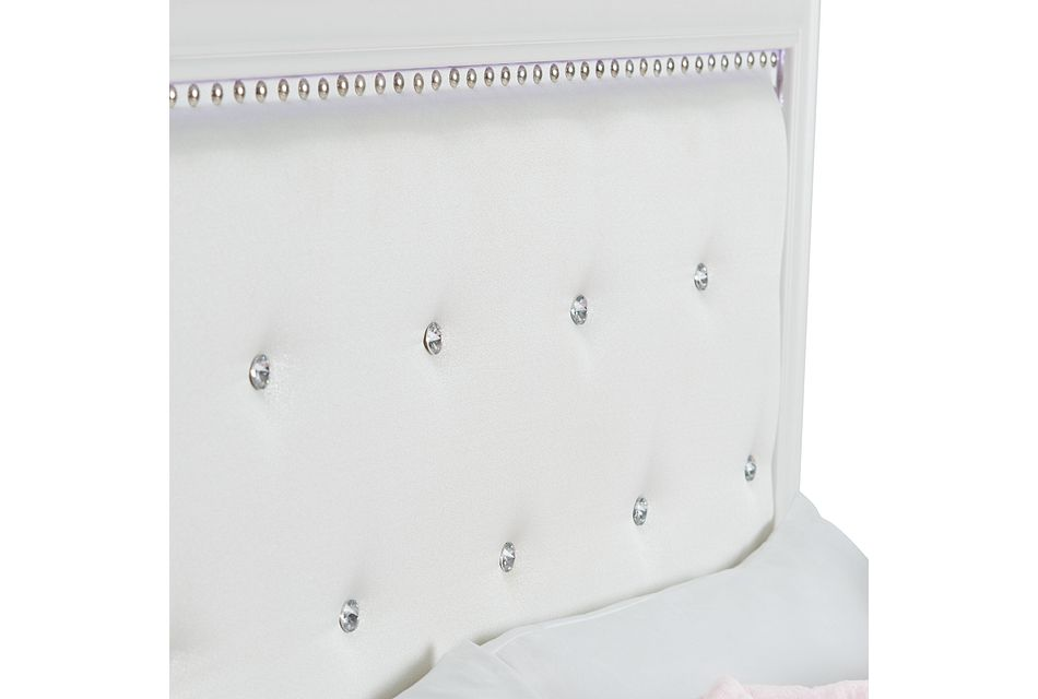 Isabella White Panel Bed