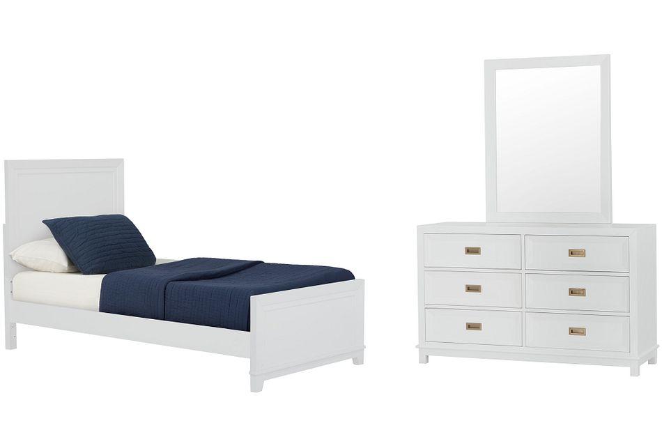 Ryder White Panel Bedroom