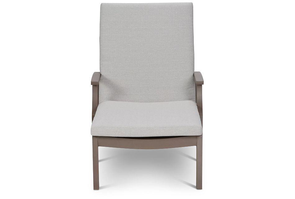 Raleigh Gray Aluminum Cushioned Chaise