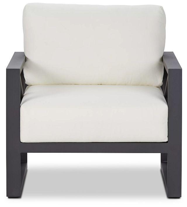 Linear Dark Gray White Aluminum Chair (2)