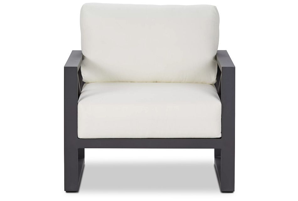 Linear Dark Gray White Aluminum Chair