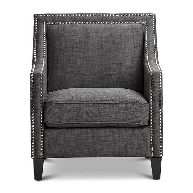 Erica Dark Gray Fabric Accent Chair (3)
