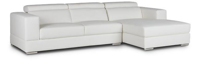 Maxwell White Micro Right Chaise Sectional (1)