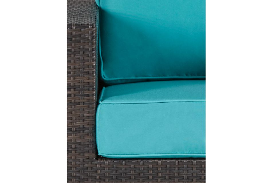 Fina Dark Teal Swivel Chair