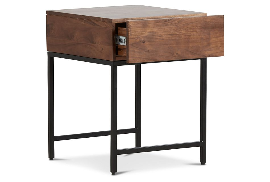 Reid Mid Tone Storage End Table