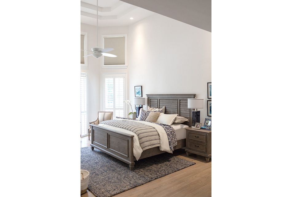 Sonoma Light Tone Panel Bed