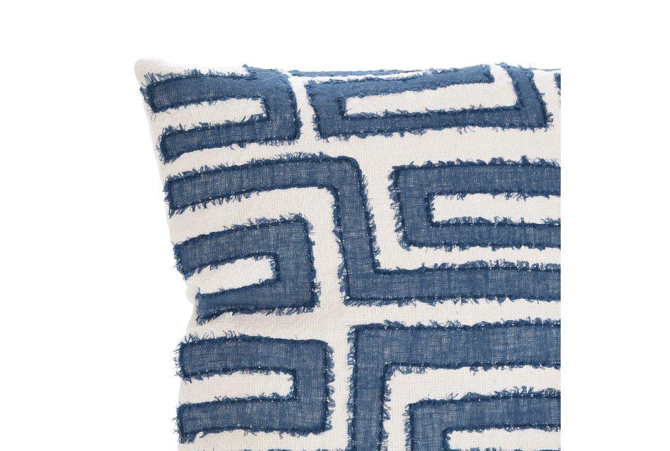 Mateo Blue Linen Accent Pillow