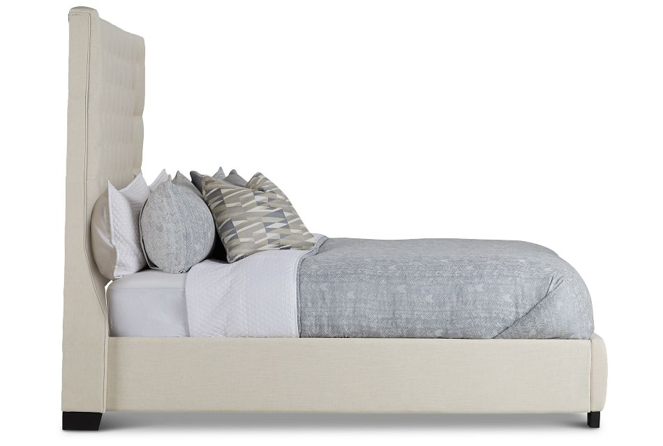 Rylee Beige Uph Platform Bed