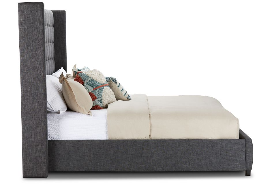 Chatham Dark Gray High Platform Bed