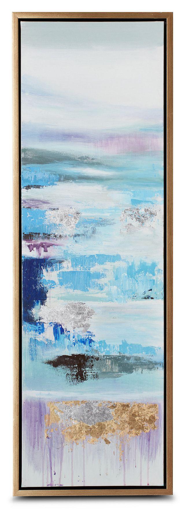 Athena Blue Set Of 3 Framed Canvas Wall Art (3)