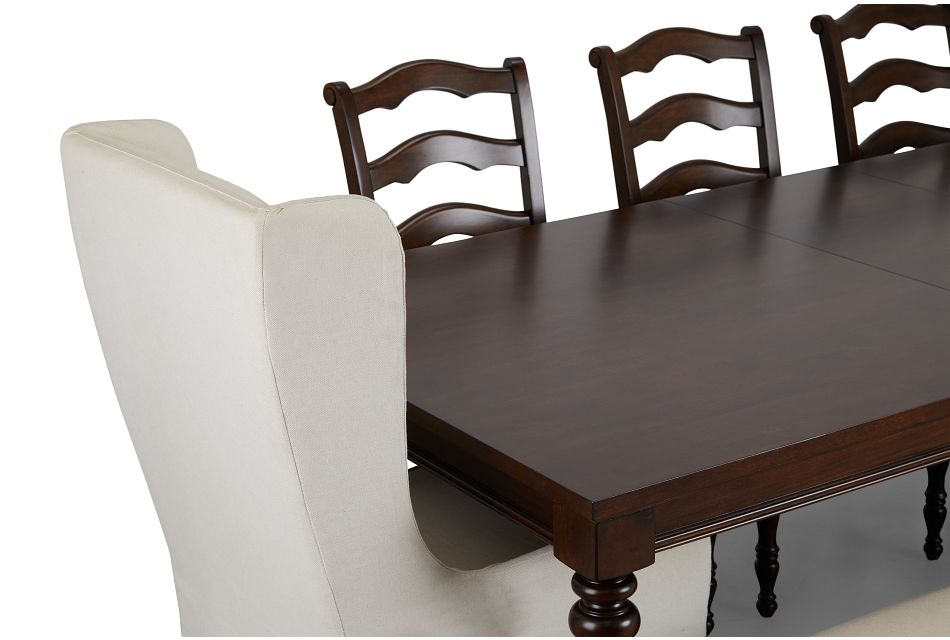 Savannah Dark Tone Rectangular Table And Mixed Chairs