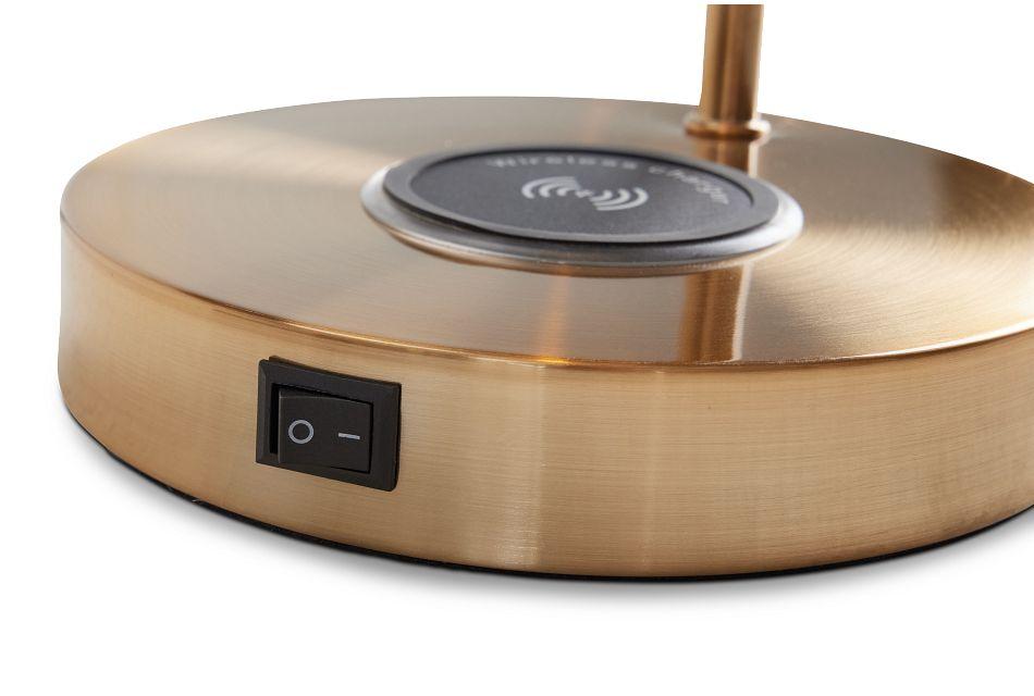 Lila Gold Metal Desk Lamp,  (3)
