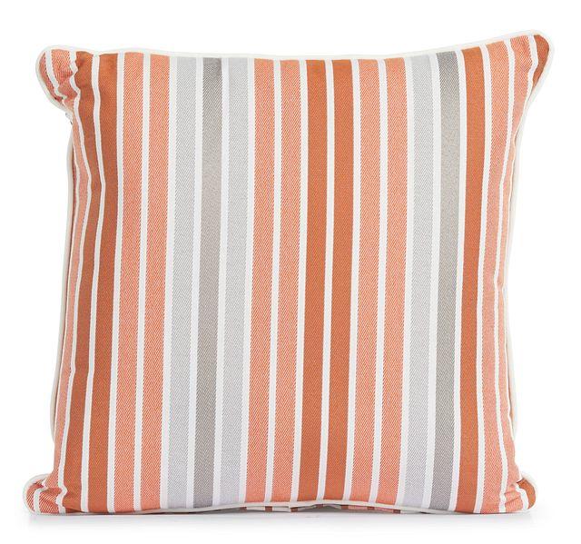 """Spring Orange 18"""" Indoor/outdoor Square Accent Pillow (0)"""