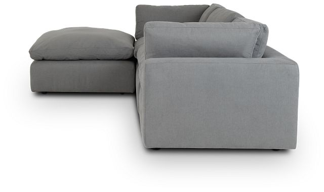 Grant Light Gray Fabric 4-pc Bumper Sect (2)
