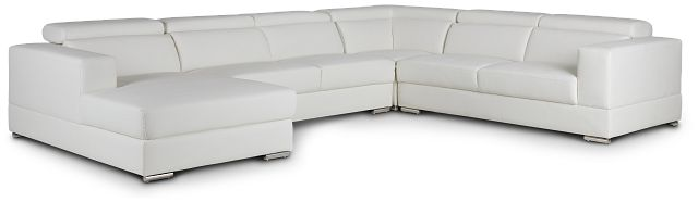 Maxwell White Micro Large Left Chaise Sectional (1)