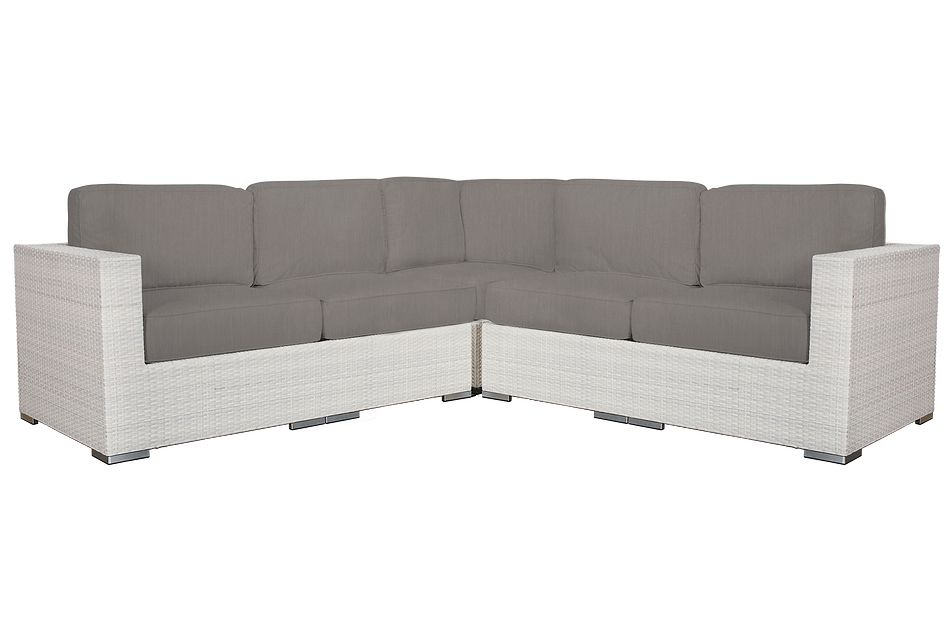 Biscayne Gray Small Two-arm Sectional