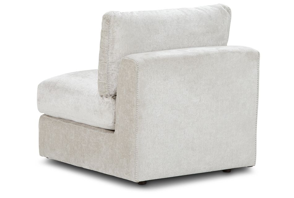 Oasis Light Beige Fabric Armless Chair, %%bed_Size%% (3)