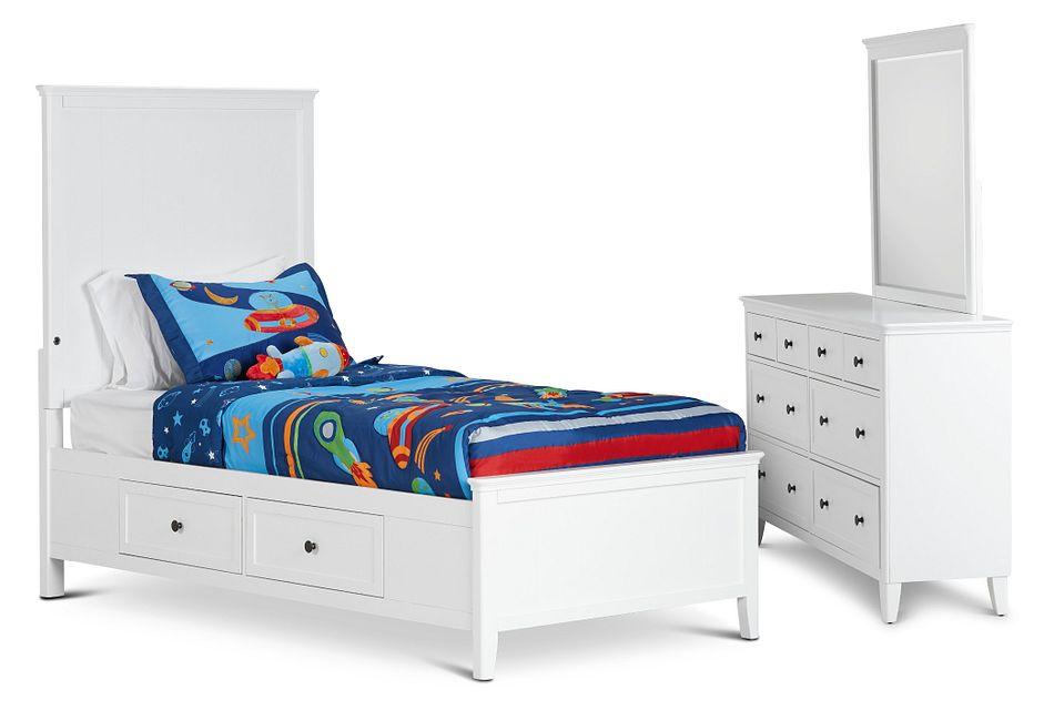Cooper White Panel Storage Bedroom