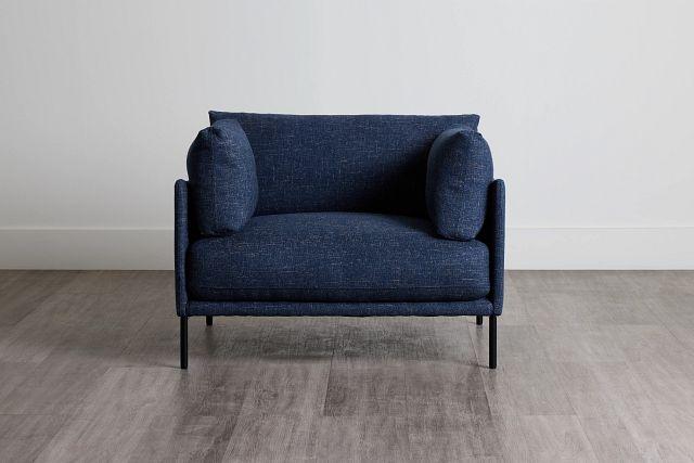 Oliver Dark Blue Fabric Chair (0)