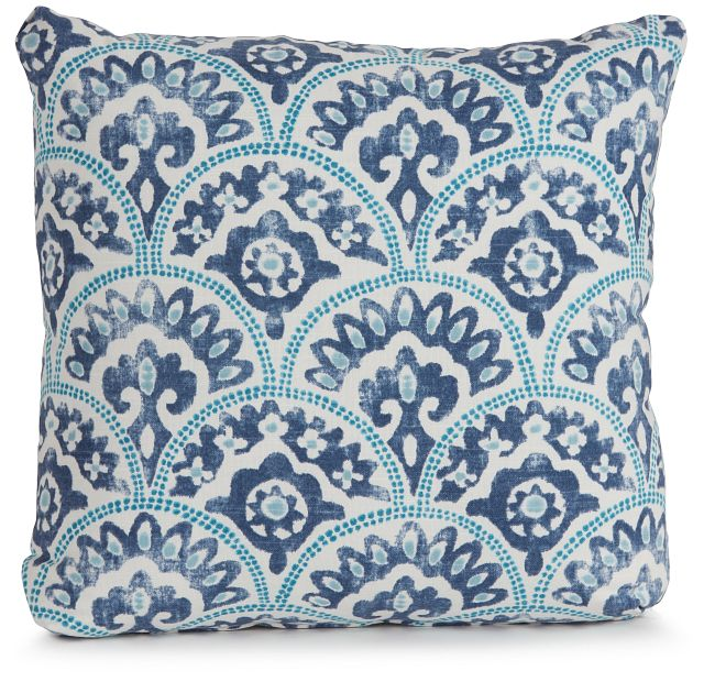 """Tomini Blue Fabric 18"""" Accent Pillow (1)"""