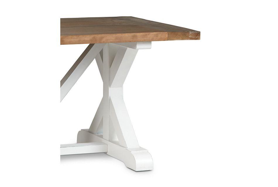 "Hilton Two-tone 79"" Rectangular Table"