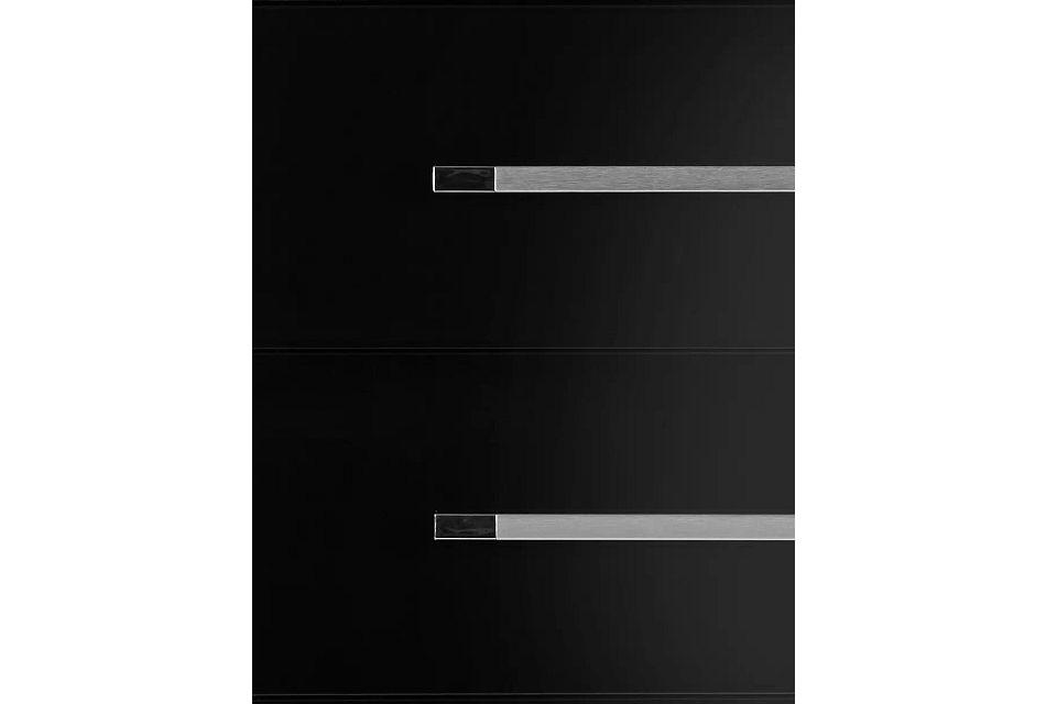 Dimora Black 5-drawer Chest