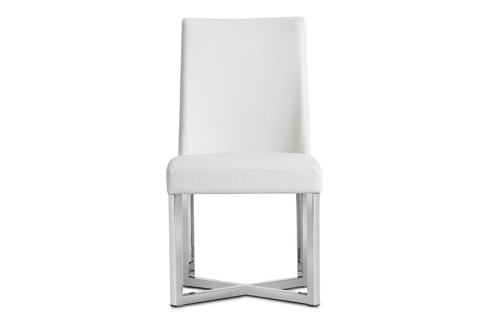 Howard White Upholstered Side Chair