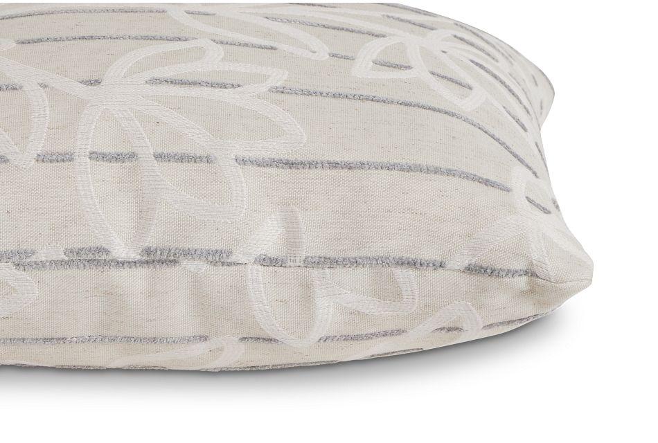 "Beca Gray Fabric 20"" Accent Pillow,  (2)"