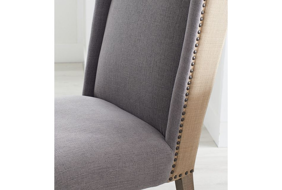 """Hadlow Mid Tone 84"""" Table & 4 Upholstered Chairs"""