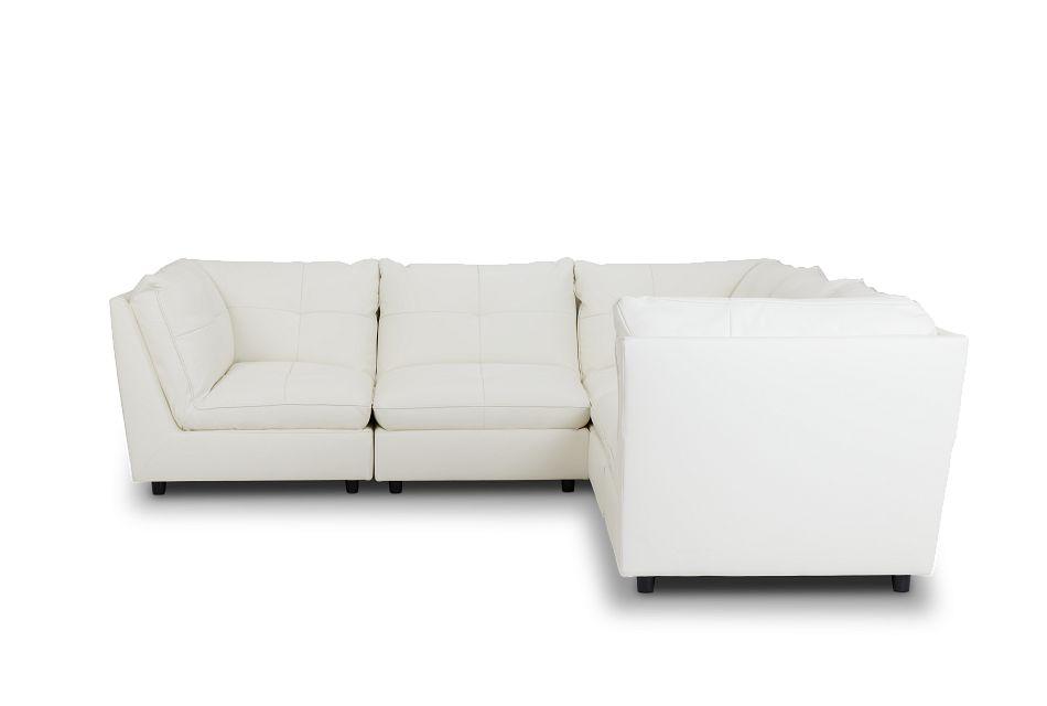 Hudson White Micro 5-Piece Modular Sectional,  (3)