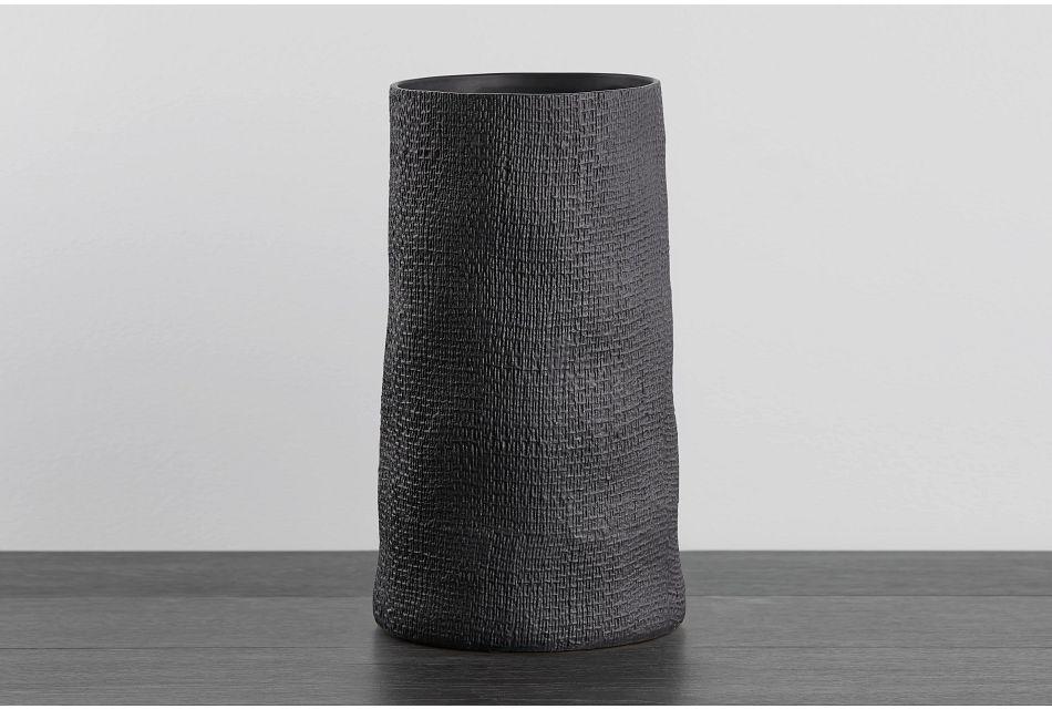 Matte Dark Gray Vase