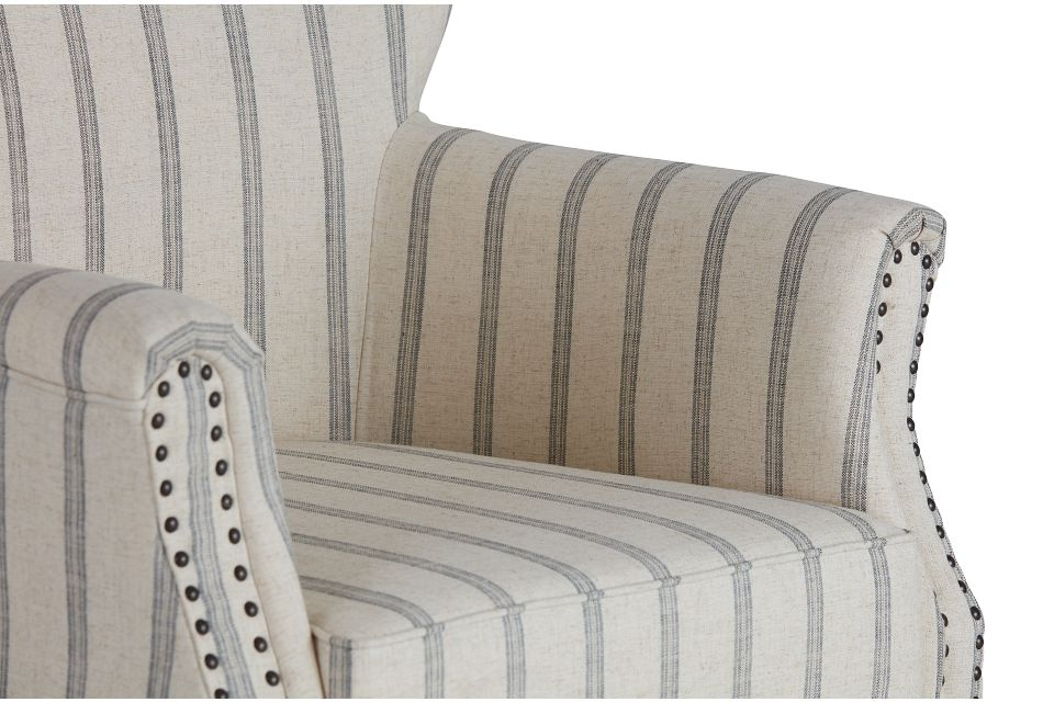 Layla Beige Fabric Accent Chair