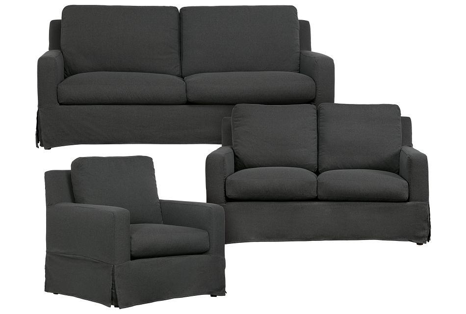 Bree Gray Fabric Living Room