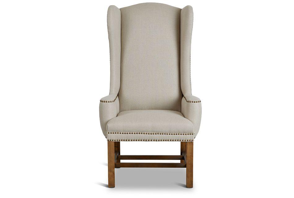 Haddie Beige Upholstered Arm Chair,