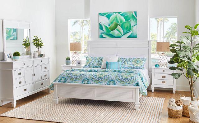 Marina White Panel Storage Bed (1)
