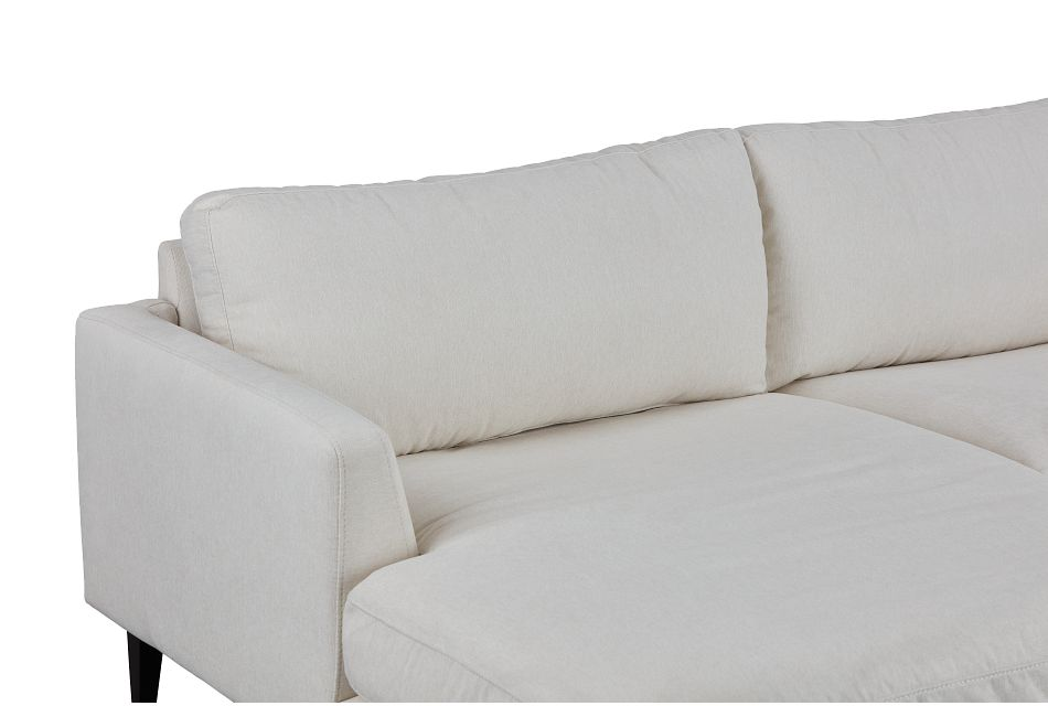 Fremont Light Beige Fabric Left Chaise Sectional