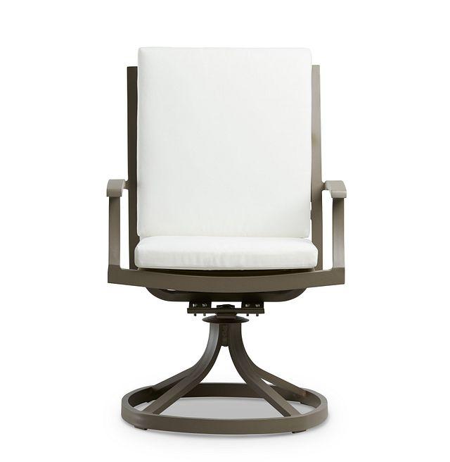 Raleigh White Swivel Arm Chair (2)