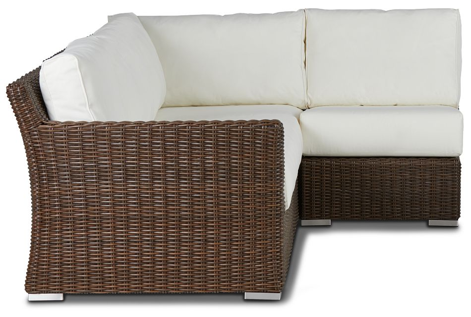 Southport White Left 4-Piece Modular Sectional,  (0)