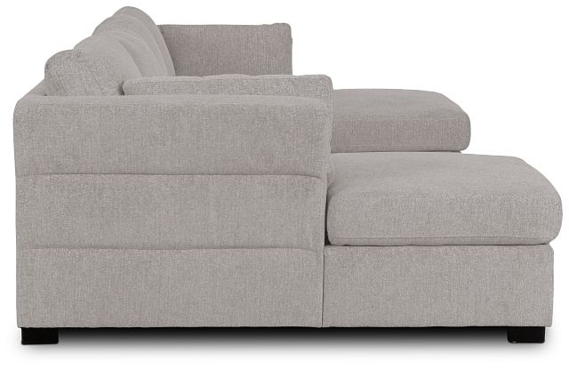 Amber Light Gray Fabric Double Chaise Sleeper Sectional (2)