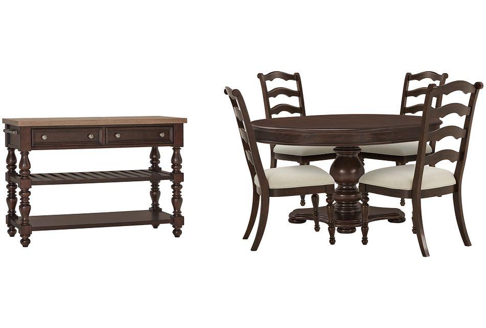 Savannah Dark Tone Round Dining Room