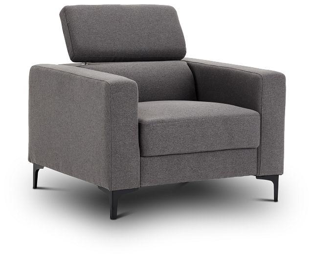 Trenton Dark Gray Fabric Chair (3)
