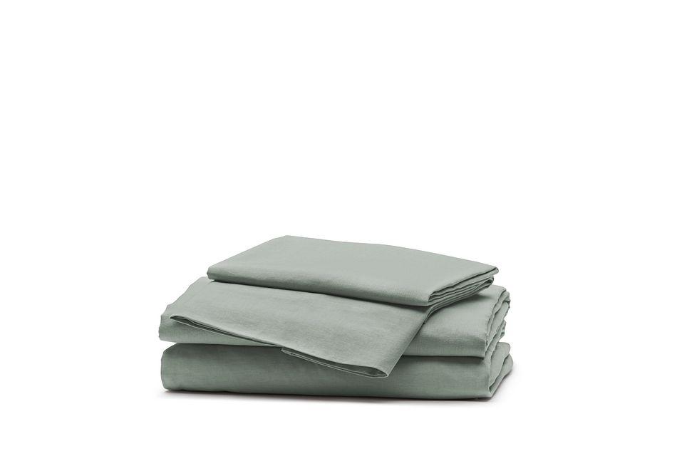 Linen Blend Blue Sheet Set