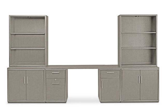 Highline Gray Door Wall Desk (1)