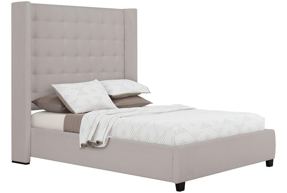 Marco Light Gray  Uph Platform Bed