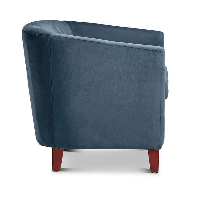 Concord Dark Blue Velvet Accent Chair (1)