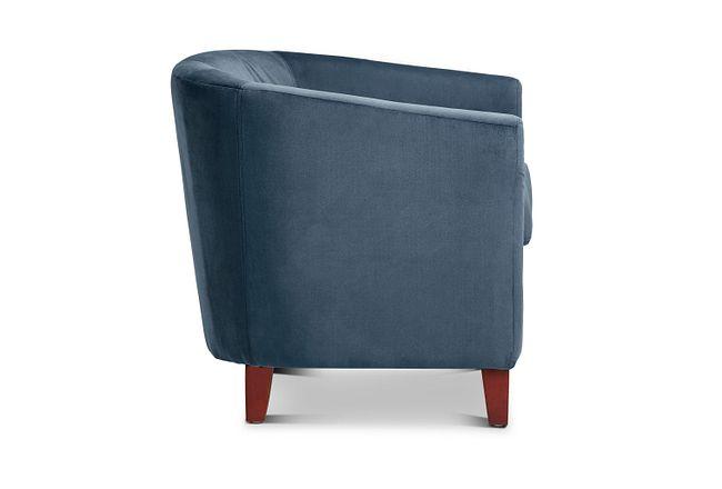 Concord Dark Blue Velvet Accent Chair