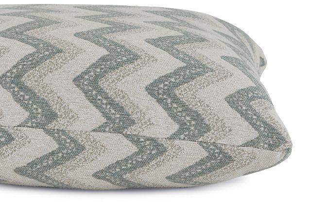 "Canari Blue Fabric 20"" Accent Pillow (2)"