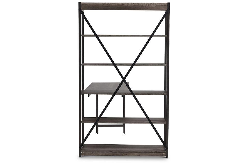 Milton Gray Desk & Bookcase,  (3)