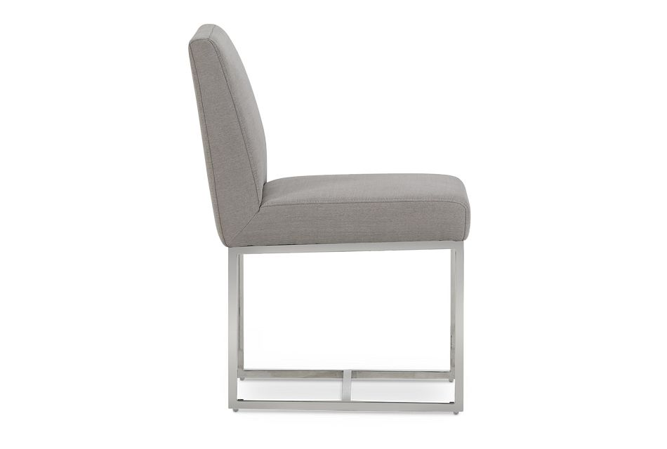 Miami Light Gray Fabric Upholstered Side Chair