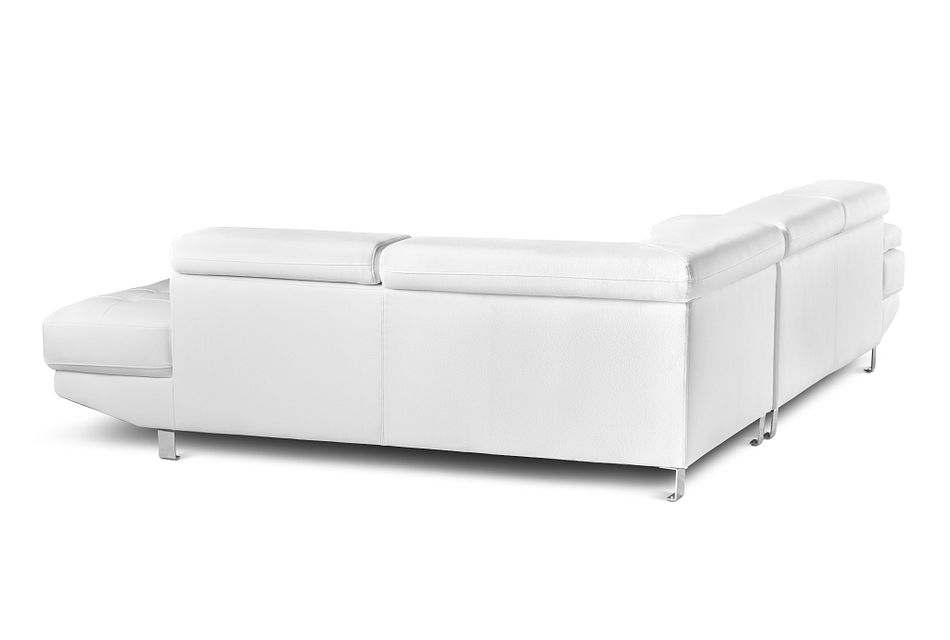 Zane WHITE MICRO Right Chaise Sectional,  (2)